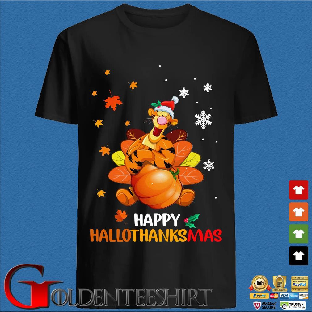 Tigger happy Hallothanksmas shirt