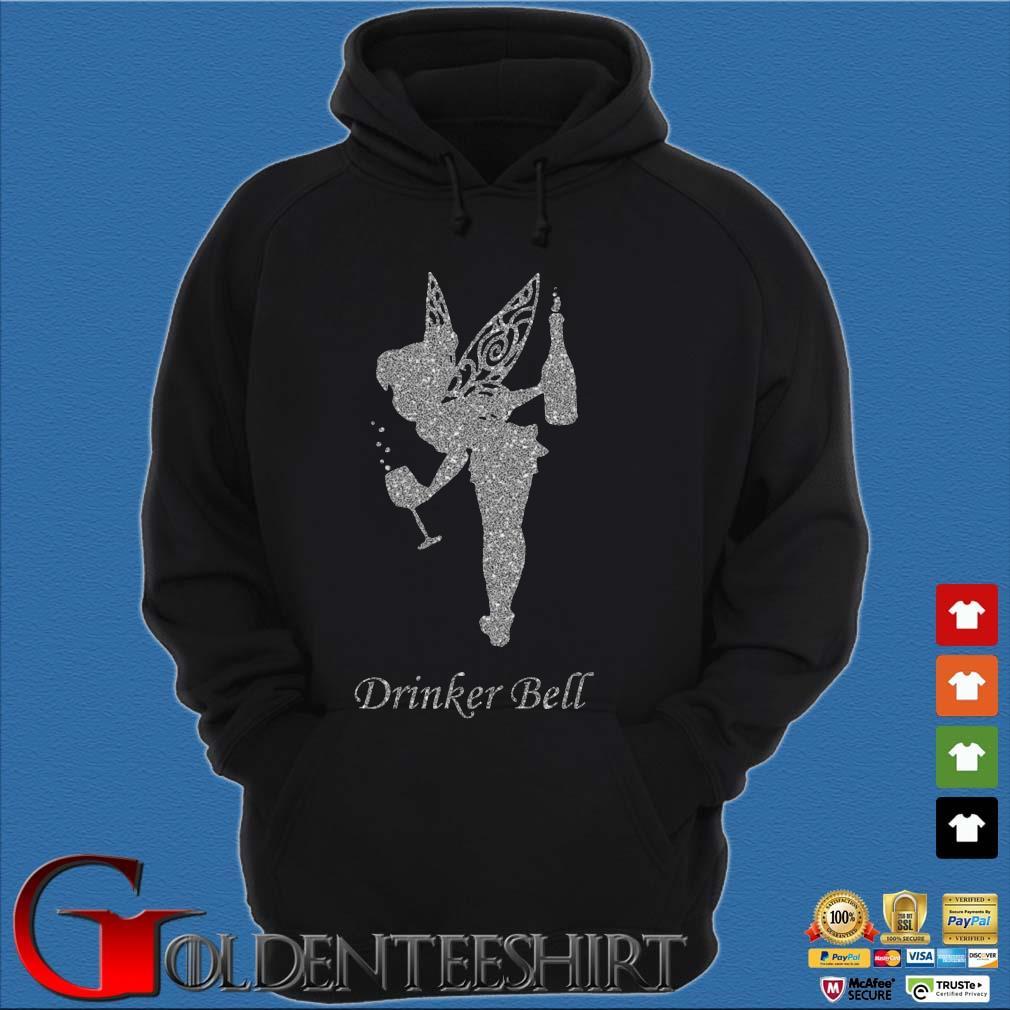 Tinkerbell Drinker Bell Diamond s Hoodie đen