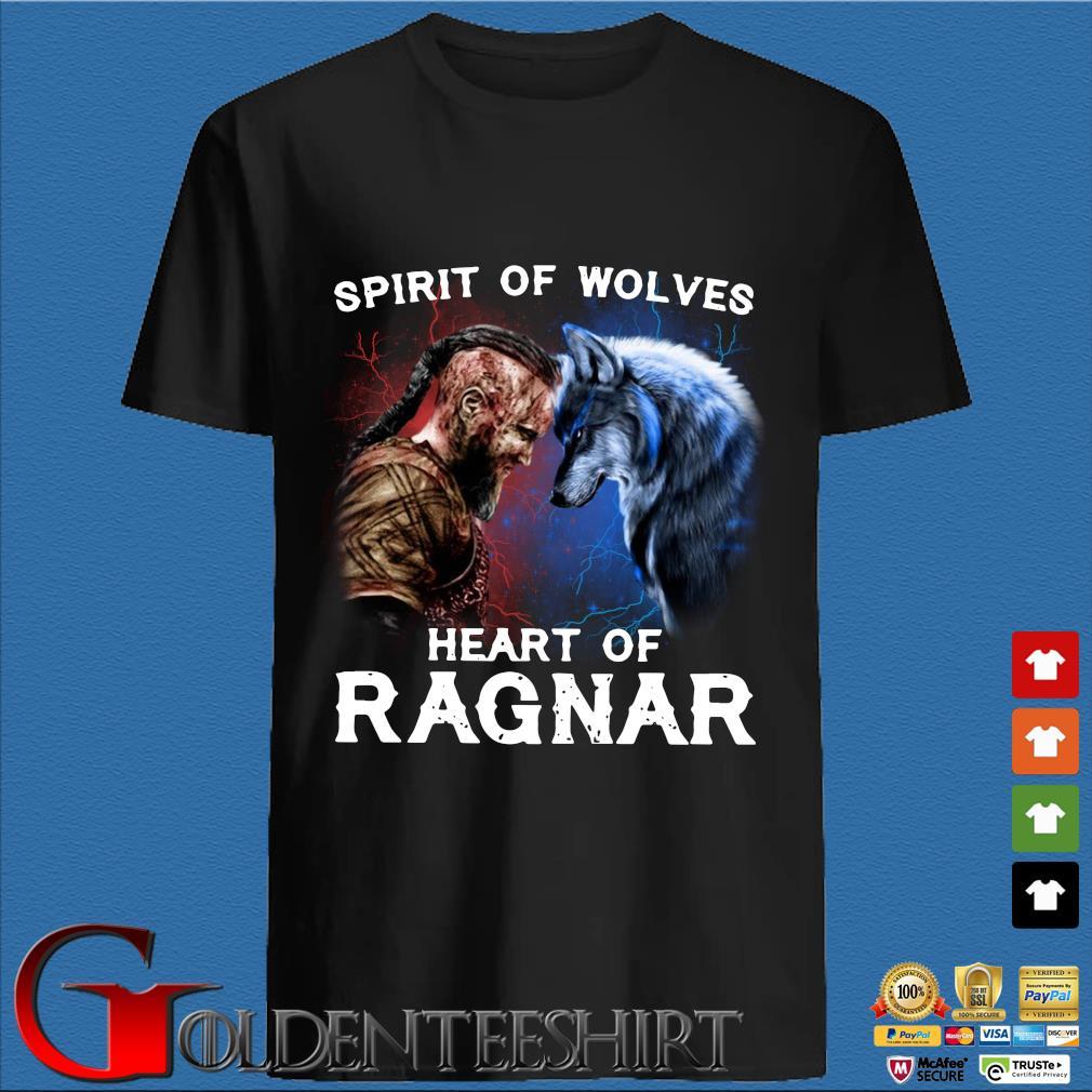 Viking Bjorn Lothbrok Spirit of wolves heart of Ragnar shirt