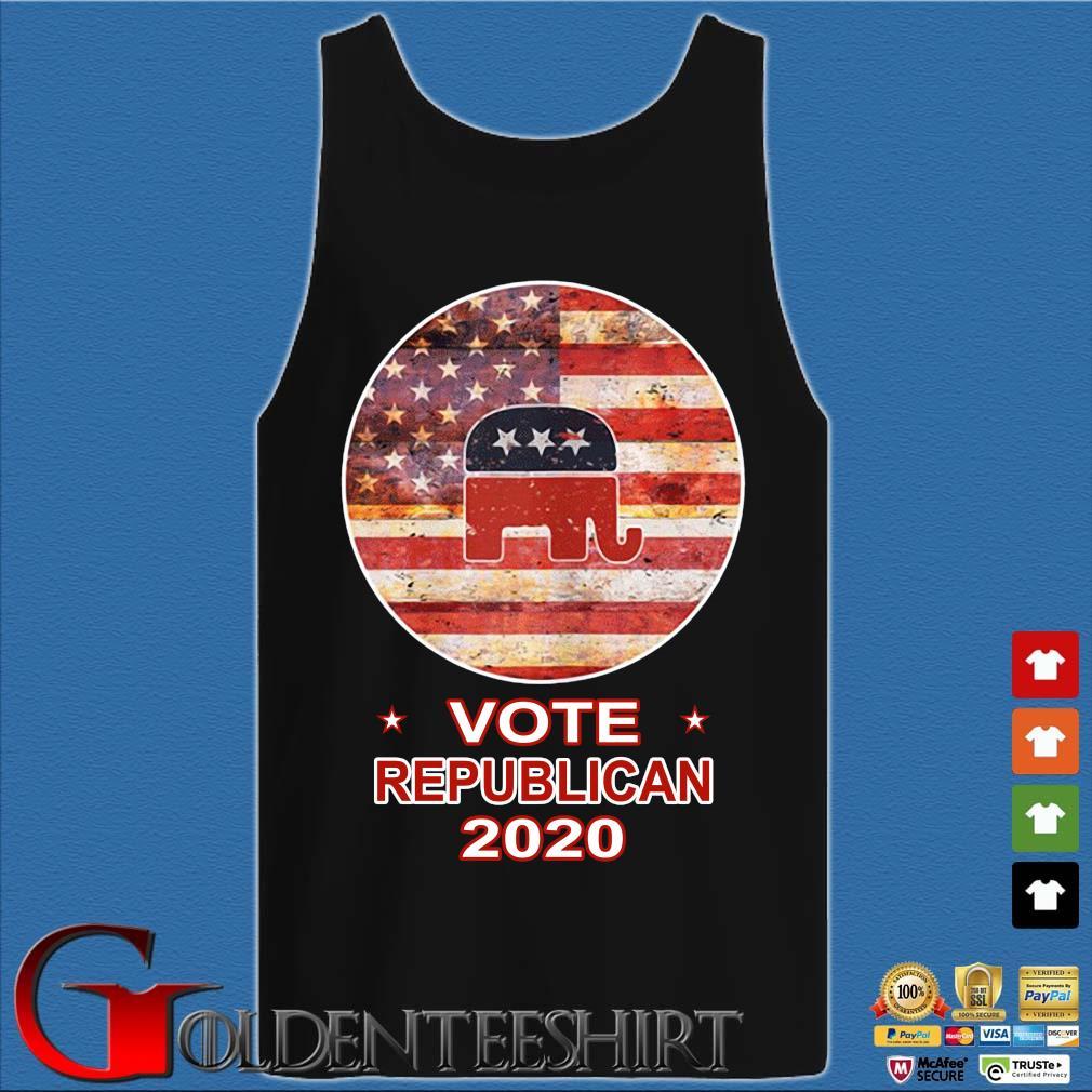 Vote Republican 2020 American FLag Shirt Tank top den
