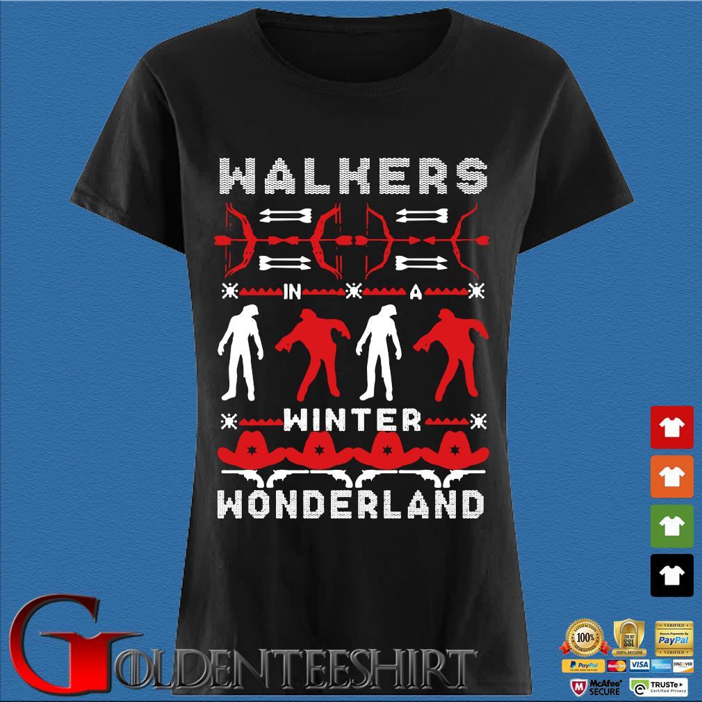 Walking Dead Walkers winter wonderland Ugly Christmas sweater Den Ladies