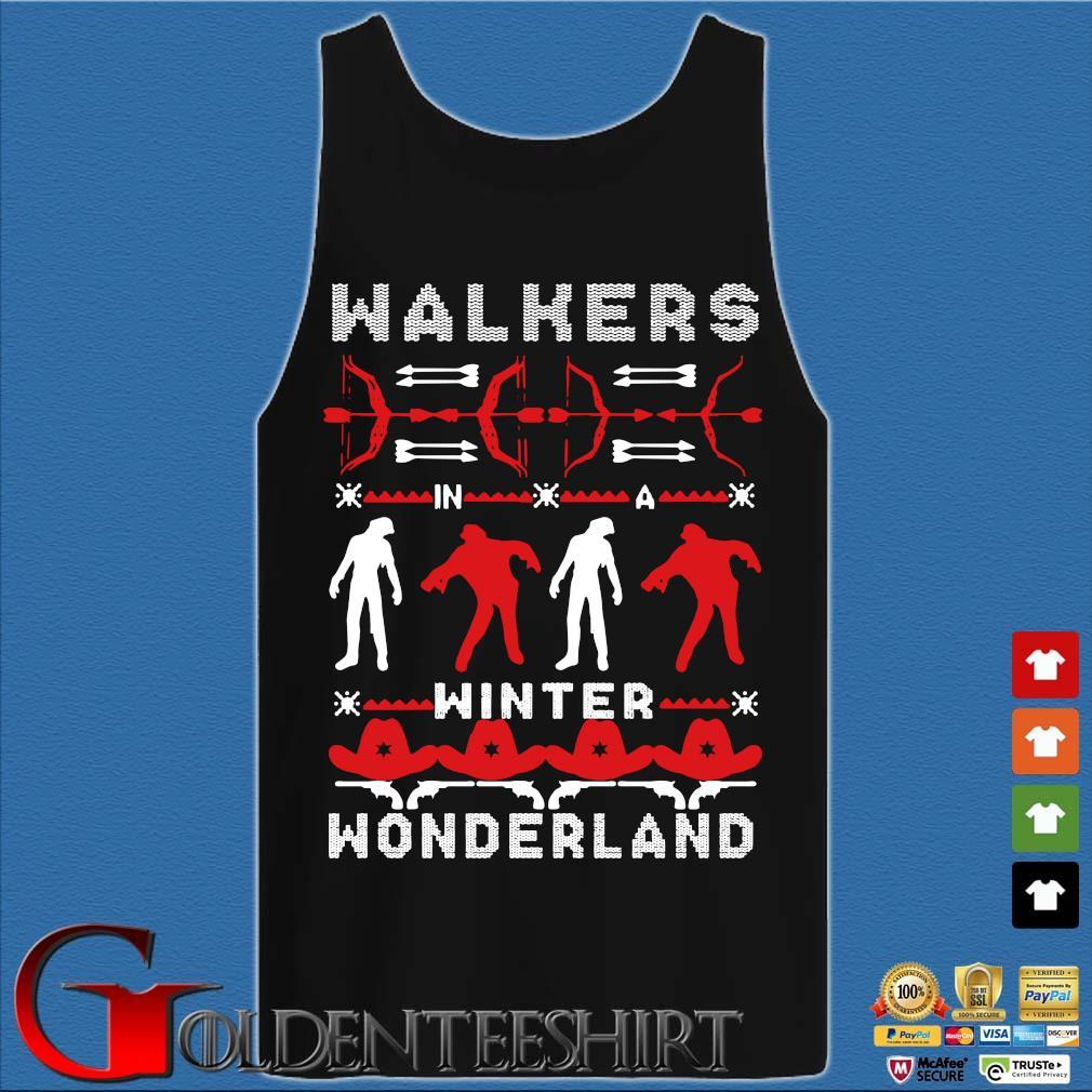 Walking Dead Walkers winter wonderland Ugly Christmas sweater Tank top den