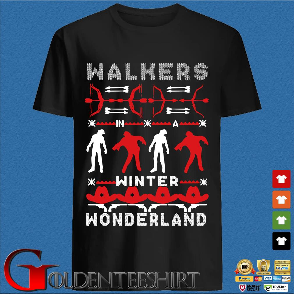 Walking Dead Walkers winter wonderland Ugly Christmas sweater