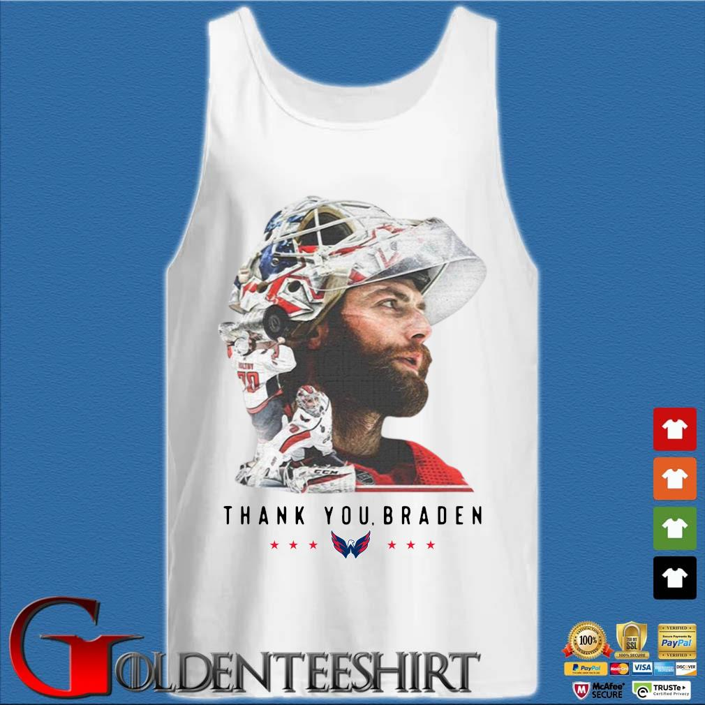 Washington Capitals thank You Braden Holtby Shirt Tank top trắng
