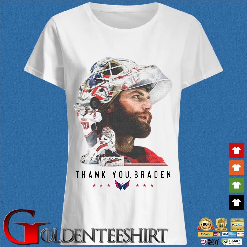 Washington Capitals thank You Braden Holtby Shirt Trang Ladies