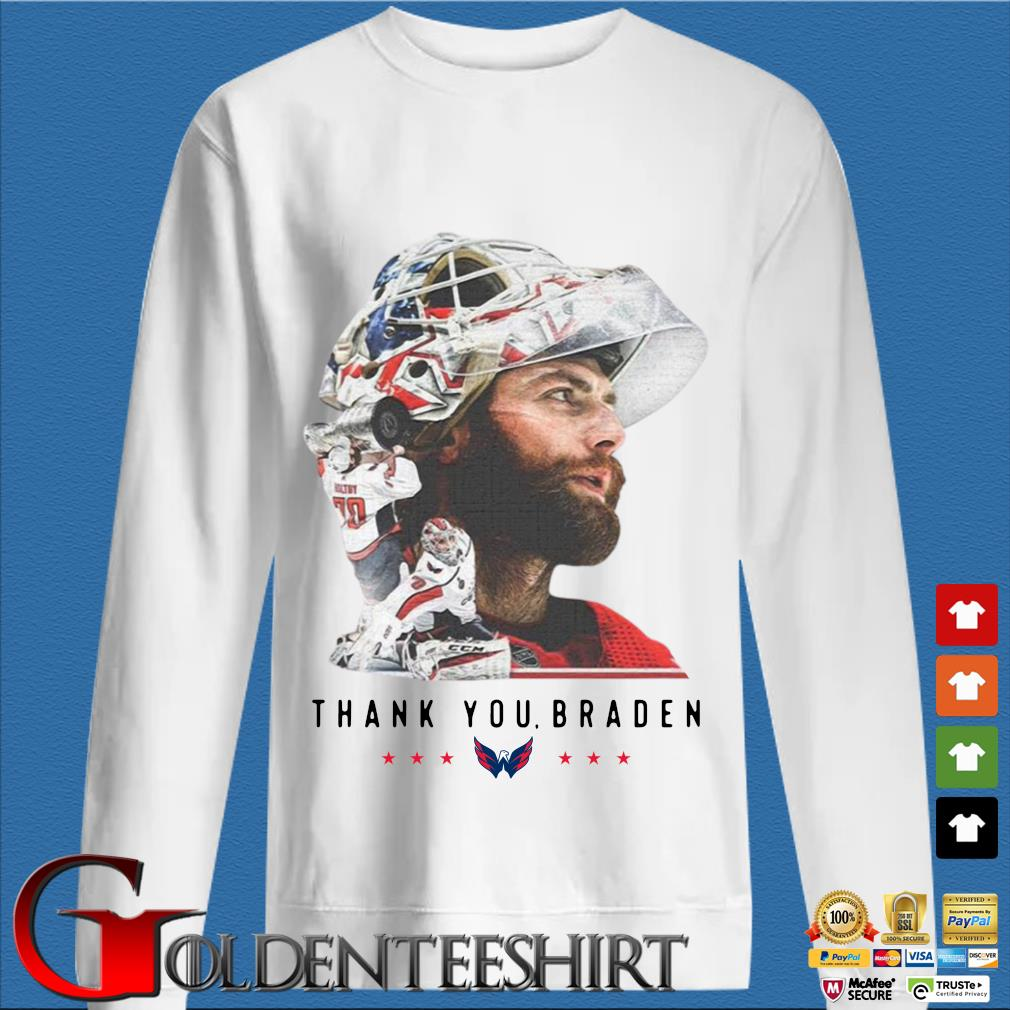 Washington Capitals thank You Braden Holtby Shirt trang Sweater
