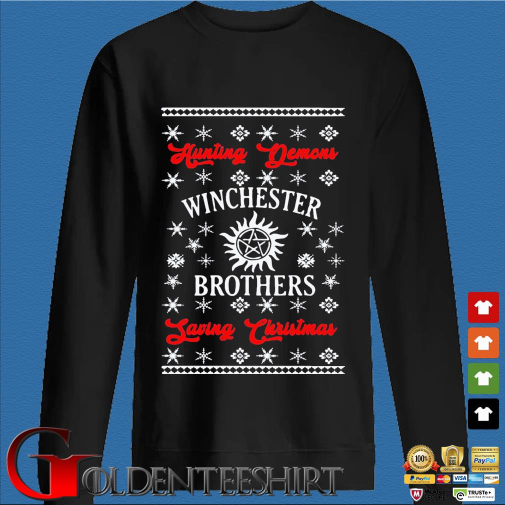 Winchester Brothers Ugly Christmas Sweats Den Sweater
