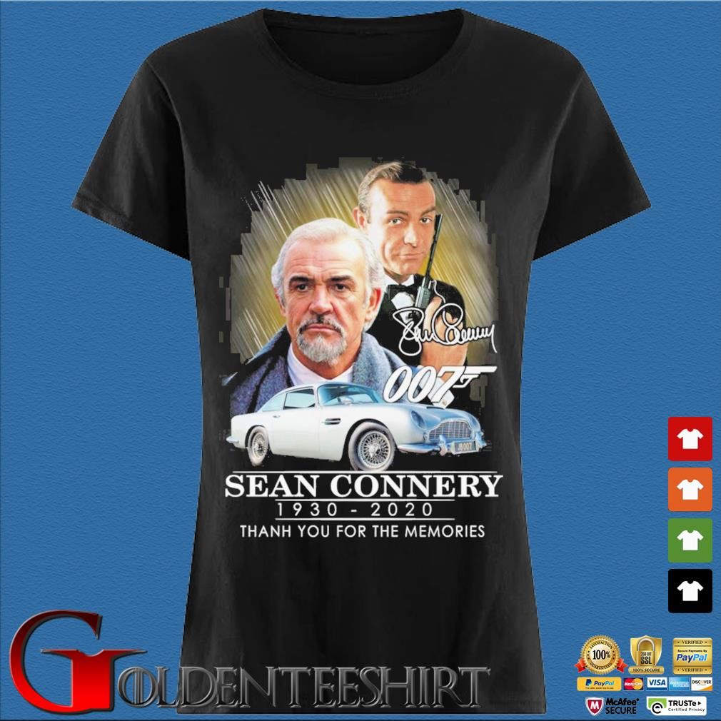 007 Sean Connery 1930-2020 thank you for the memories signatures s Den Ladies
