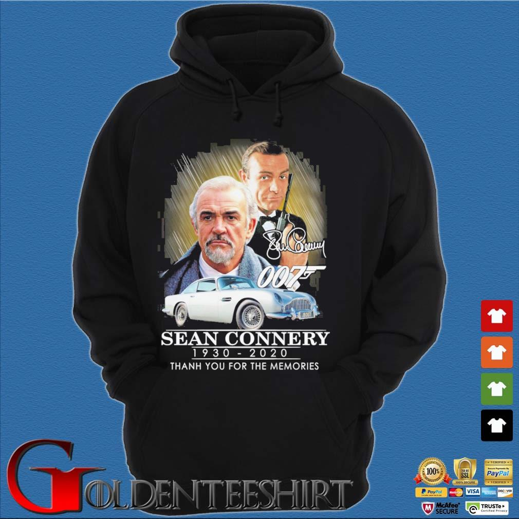 007 Sean Connery 1930-2020 thank you for the memories signatures s Hoodie đen