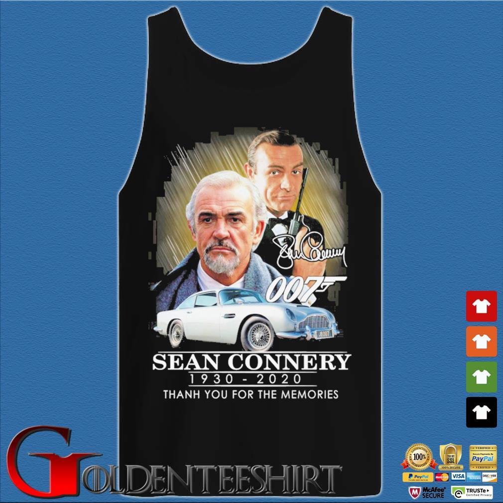 007 Sean Connery 1930-2020 thank you for the memories signatures s Tank top den