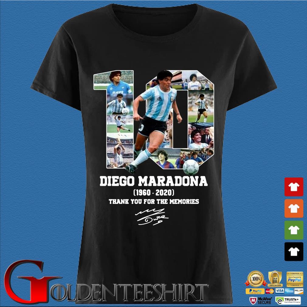 10 Diego Maradona 1960-2020 thank you for the memories signature s Den Ladies