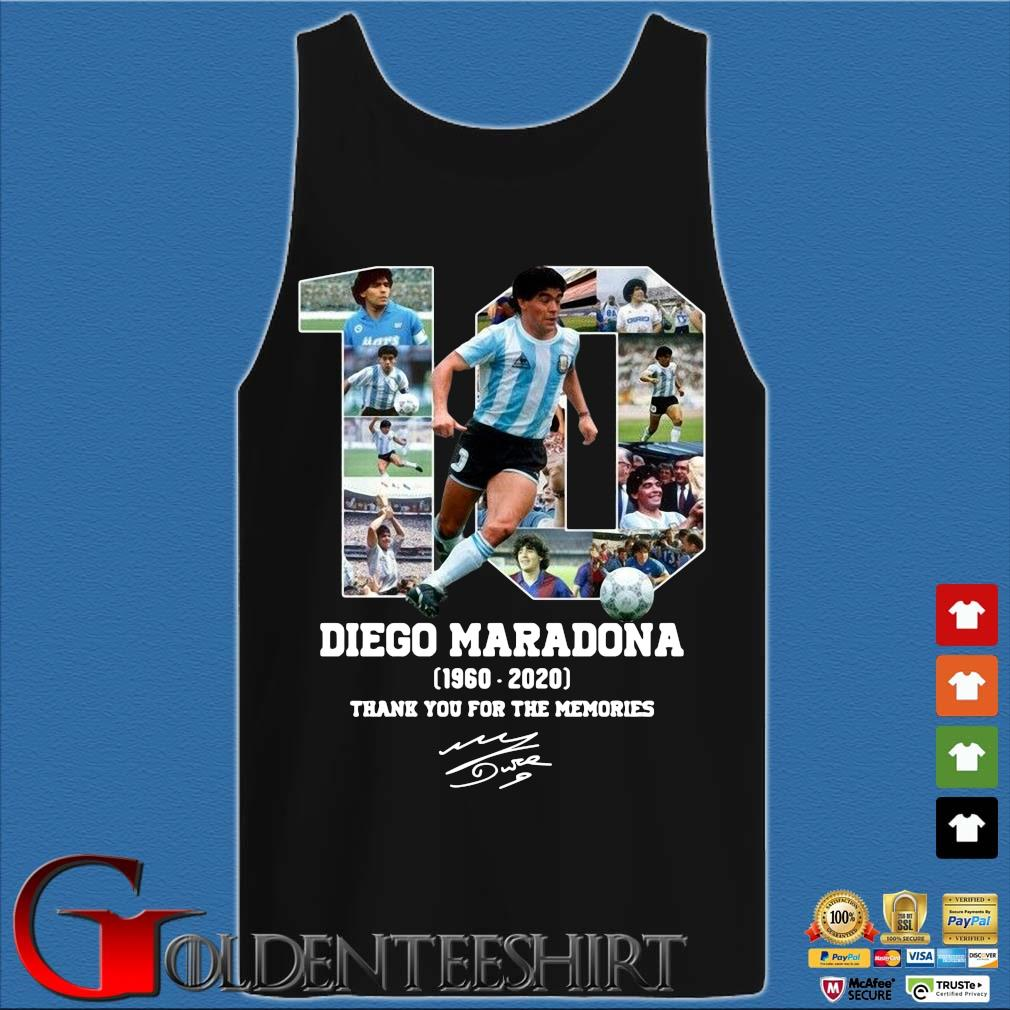 10 Diego Maradona 1960-2020 thank you for the memories signature s Tank top den