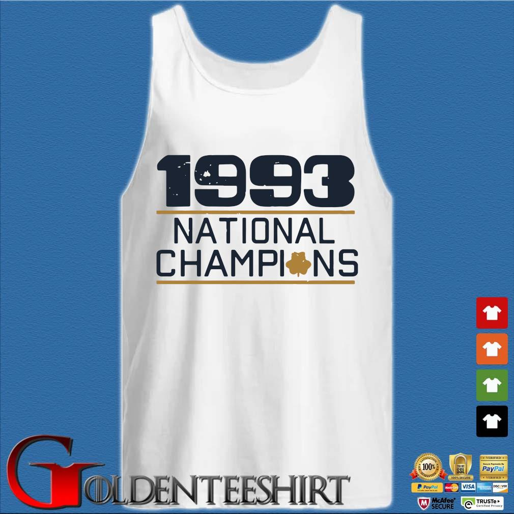 1993 national Champions s Tank top trắng
