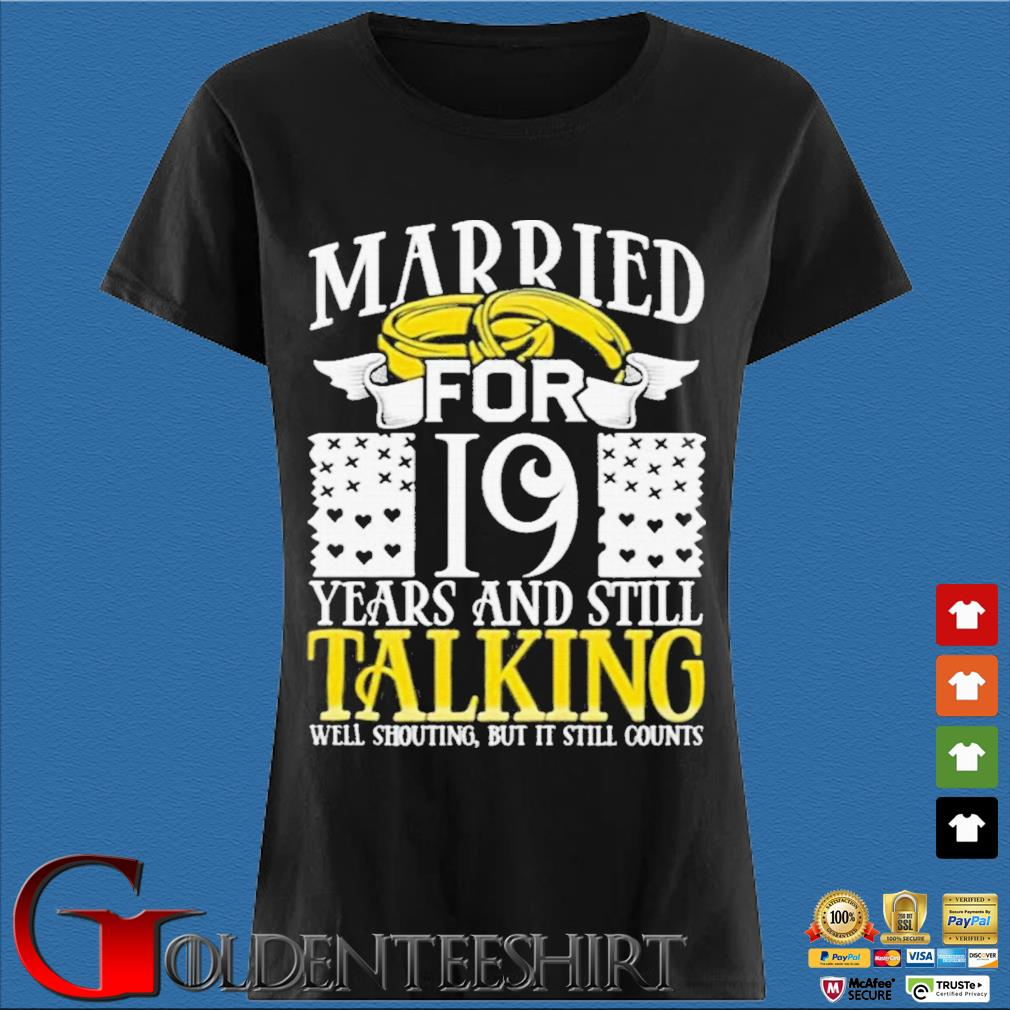 19th Wedding Anniversary for Wife Her Marriage Shirts Den Ladies