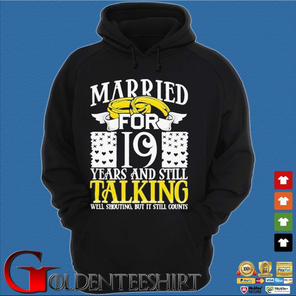 19th Wedding Anniversary for Wife Her Marriage Shirts Hoodie đen