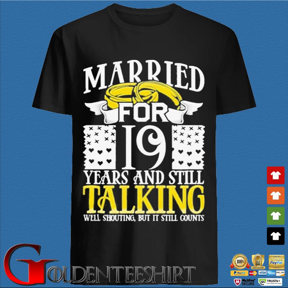 19th Wedding Anniversary for Wife Her Marriage Shirts den Shirt