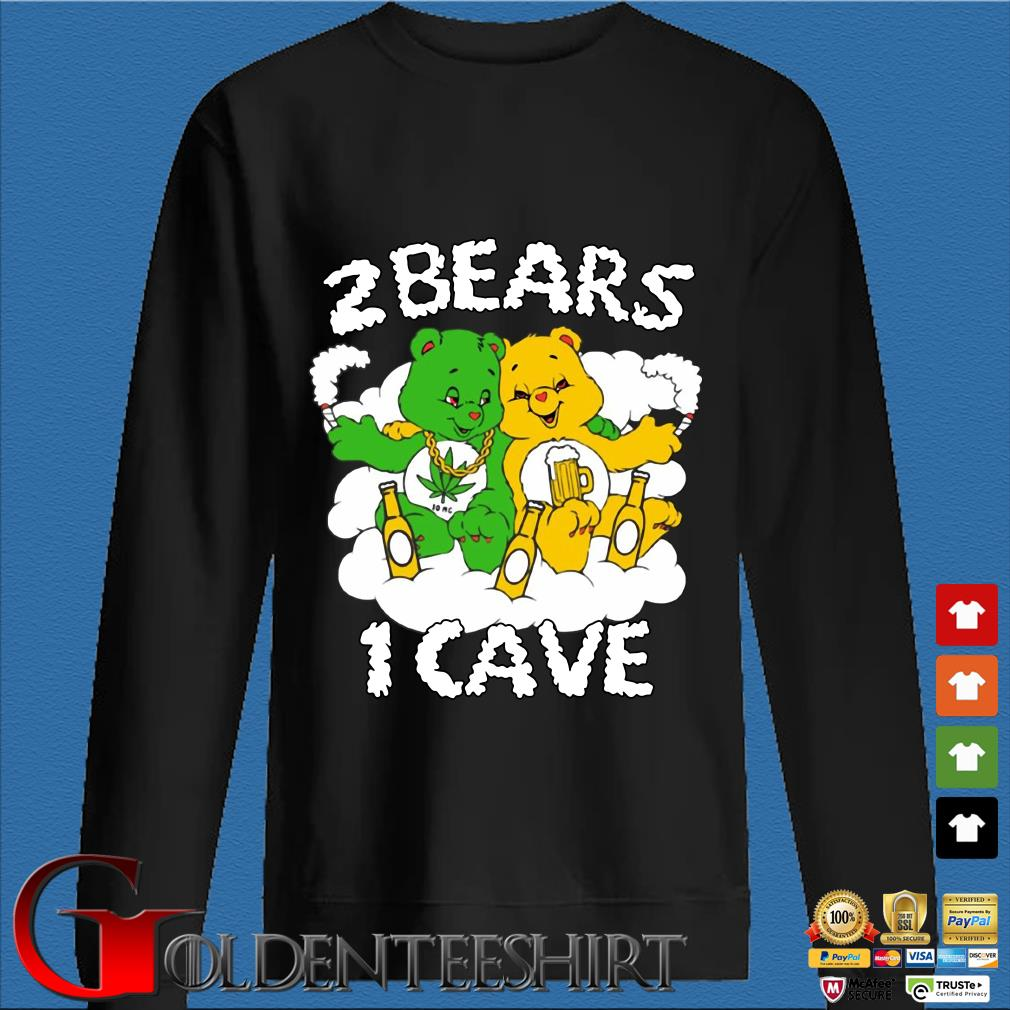 2 bears 1 cave with Tom Segura and Bert Kreischer beer and weed shirt
