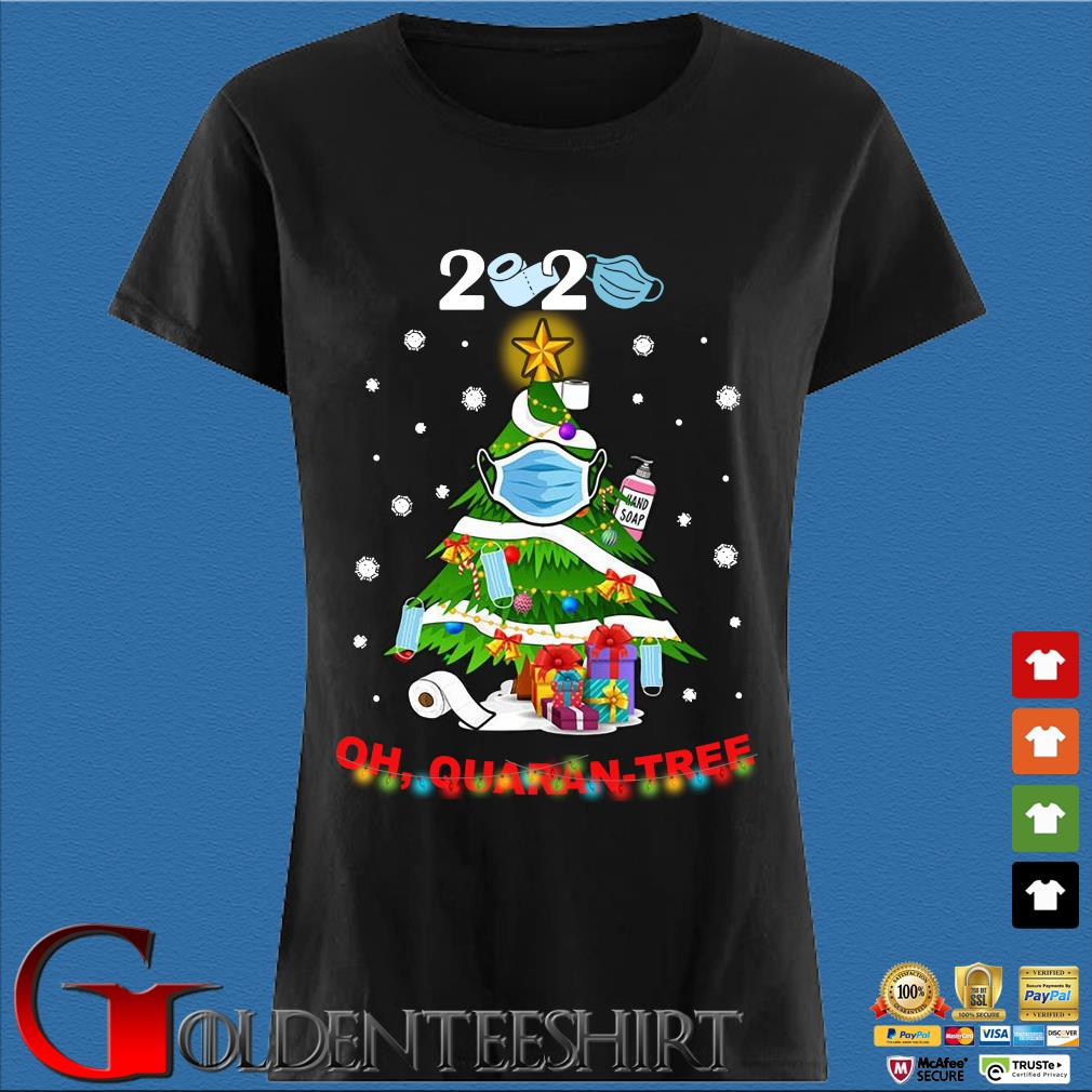 2020 oh quaran-three Christmas sweater Den Ladies