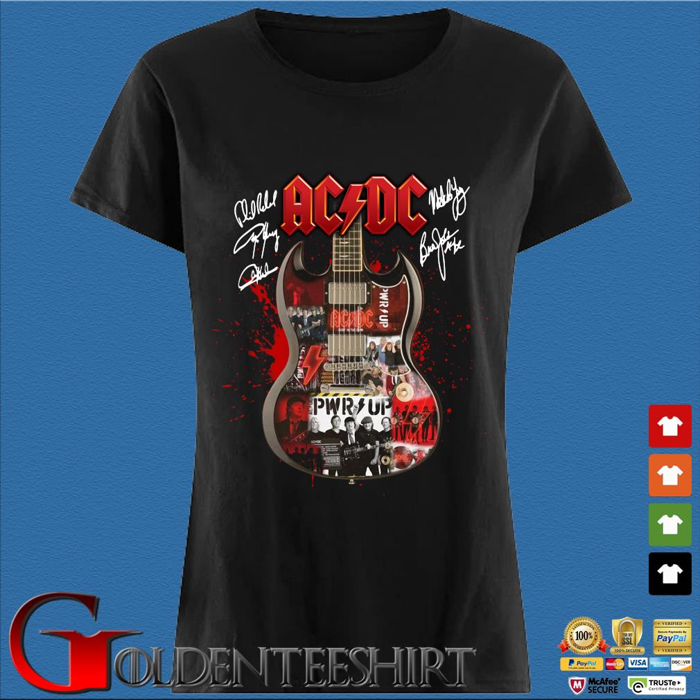 Ac Dc Guitar signatures s Den Ladies