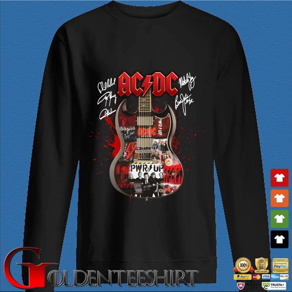 Ac Dc Guitar signatures shirt