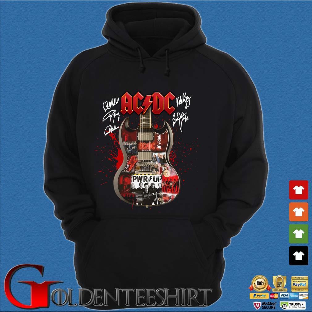 Ac Dc Guitar signatures s Hoodie đen