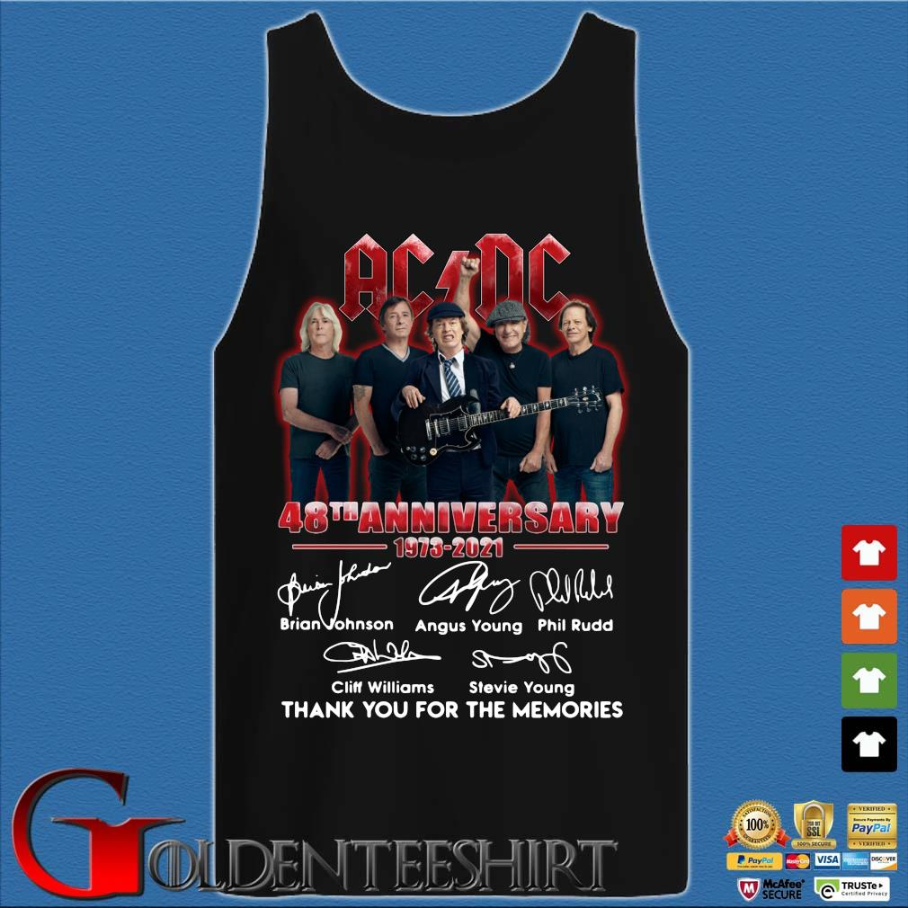 ACDC 48th anniversary 1973-2020 thank you for the memories signatures sweats Tank top den