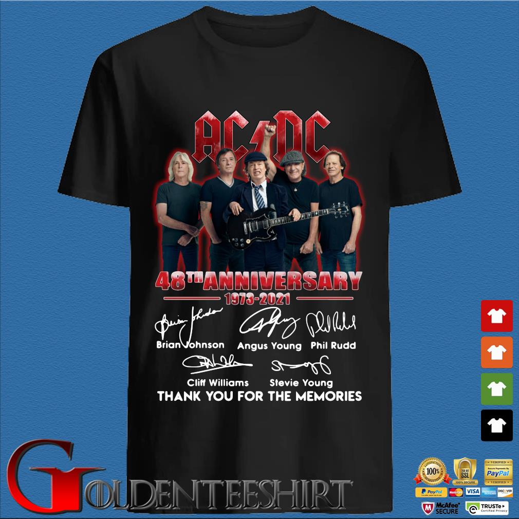 ACDC 48th anniversary 1973-2020 thank you for the memories signatures sweats den Shirt