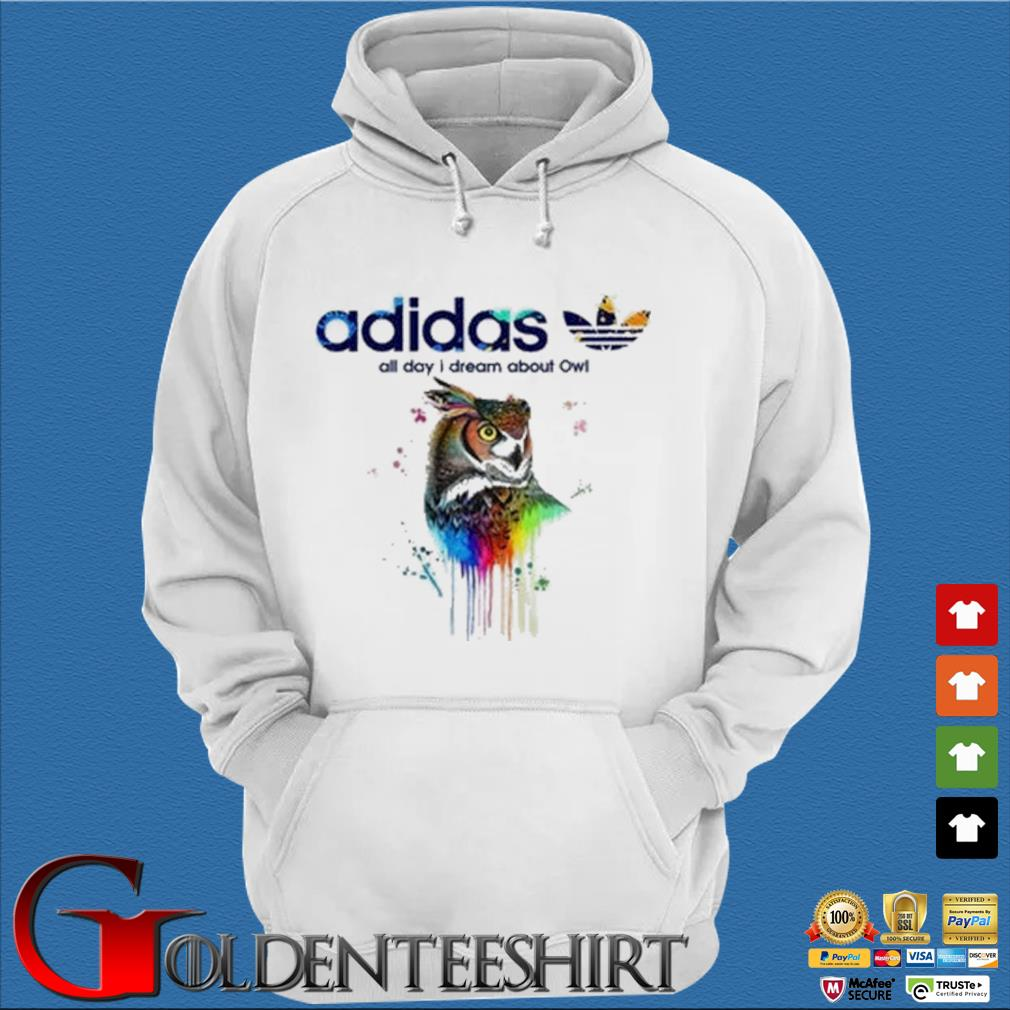Adidas all day I dream about Owl color s Trang Hoodie
