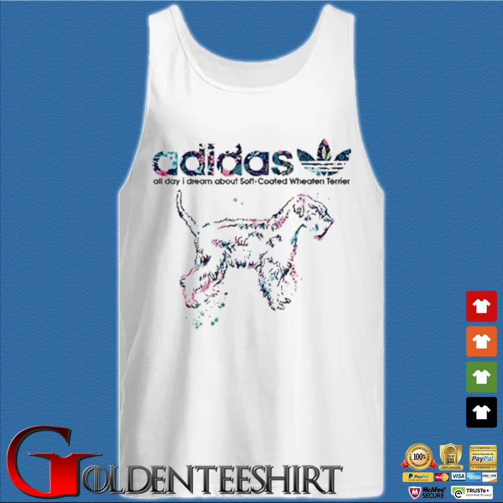 Adidas all day I dream about soft coated wheaten Terrier s Tank top trắng