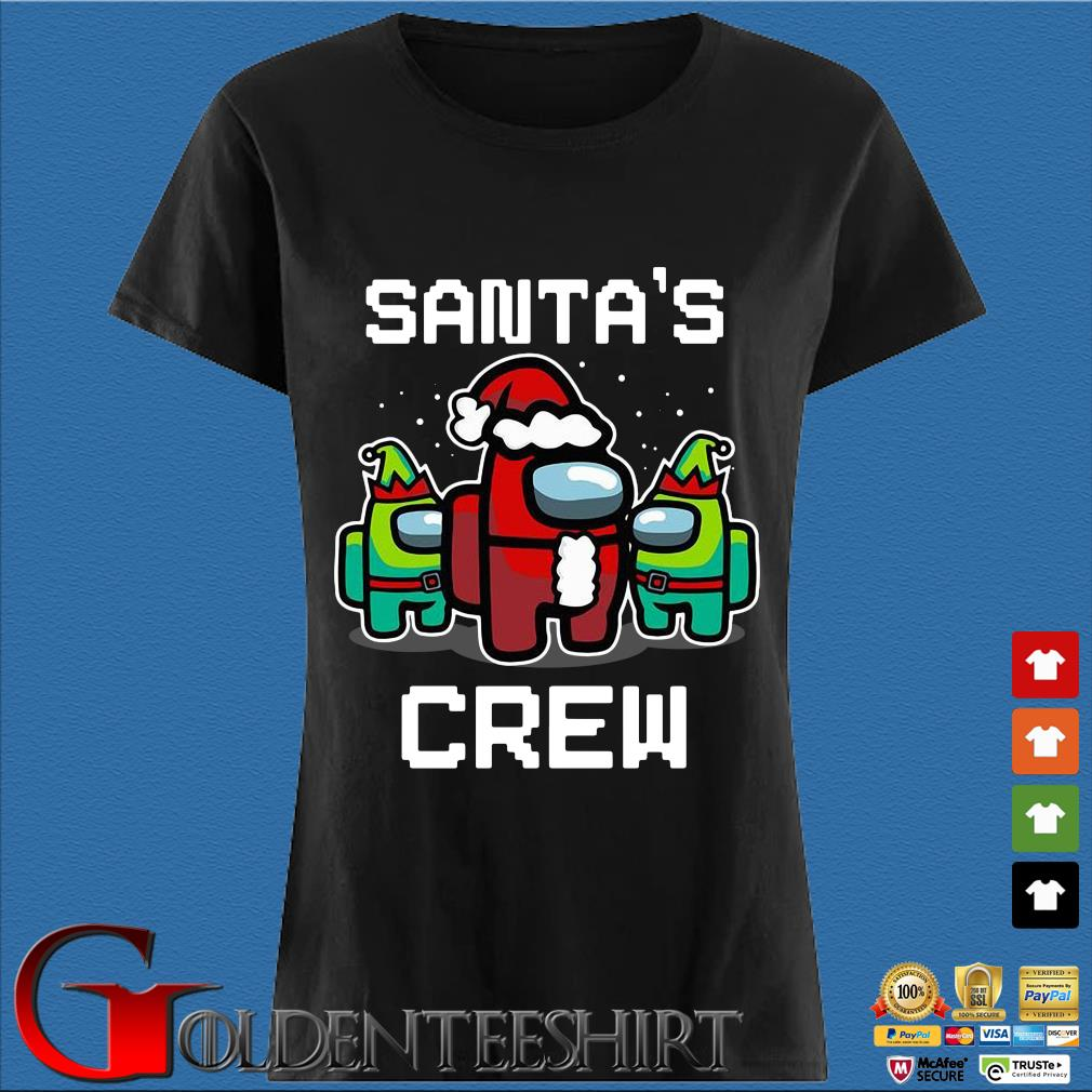 Among Us Santa's Crew Christmas Sweater Den Ladies