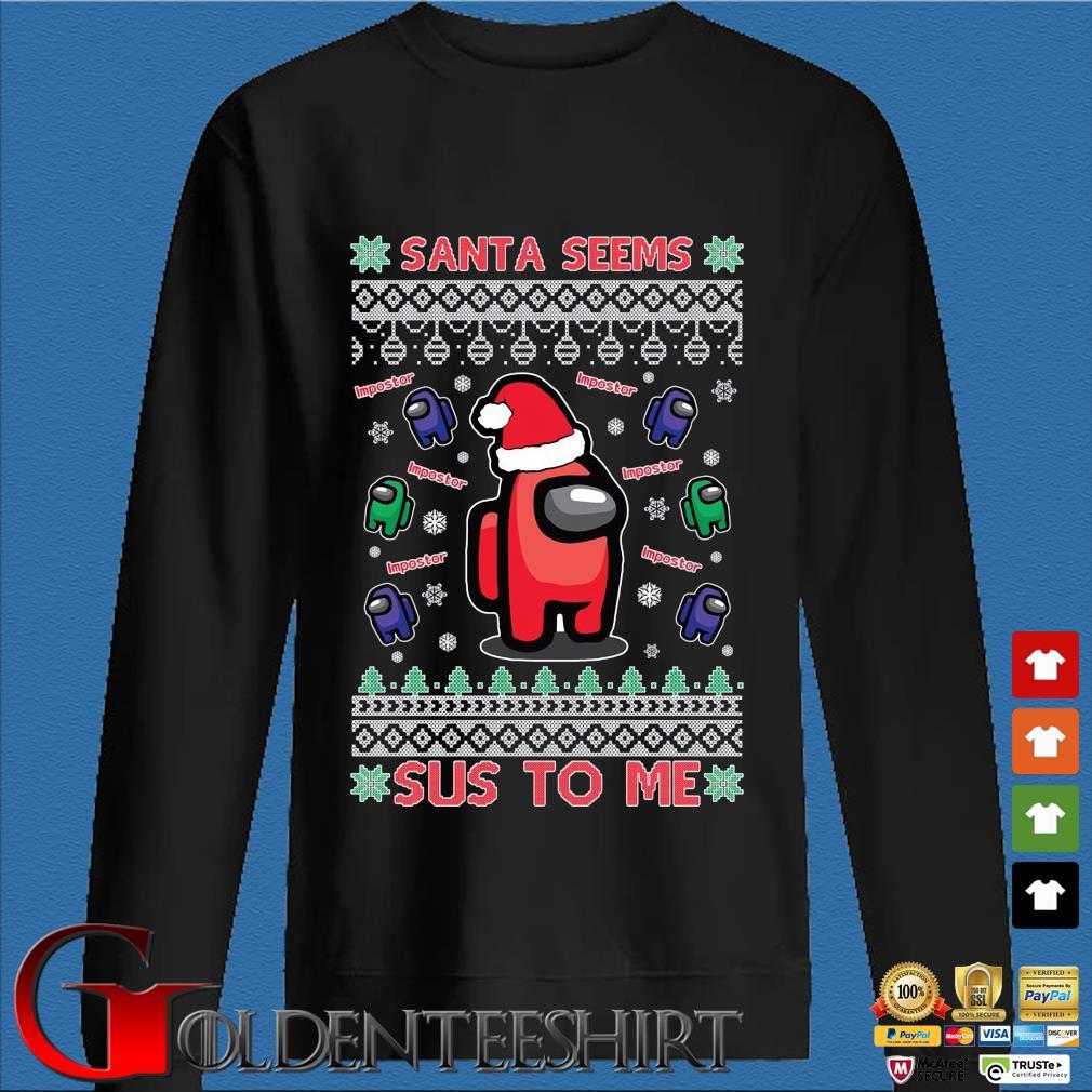 Among Us Santa seems Impostor sus to me Ugly Christmas sweater