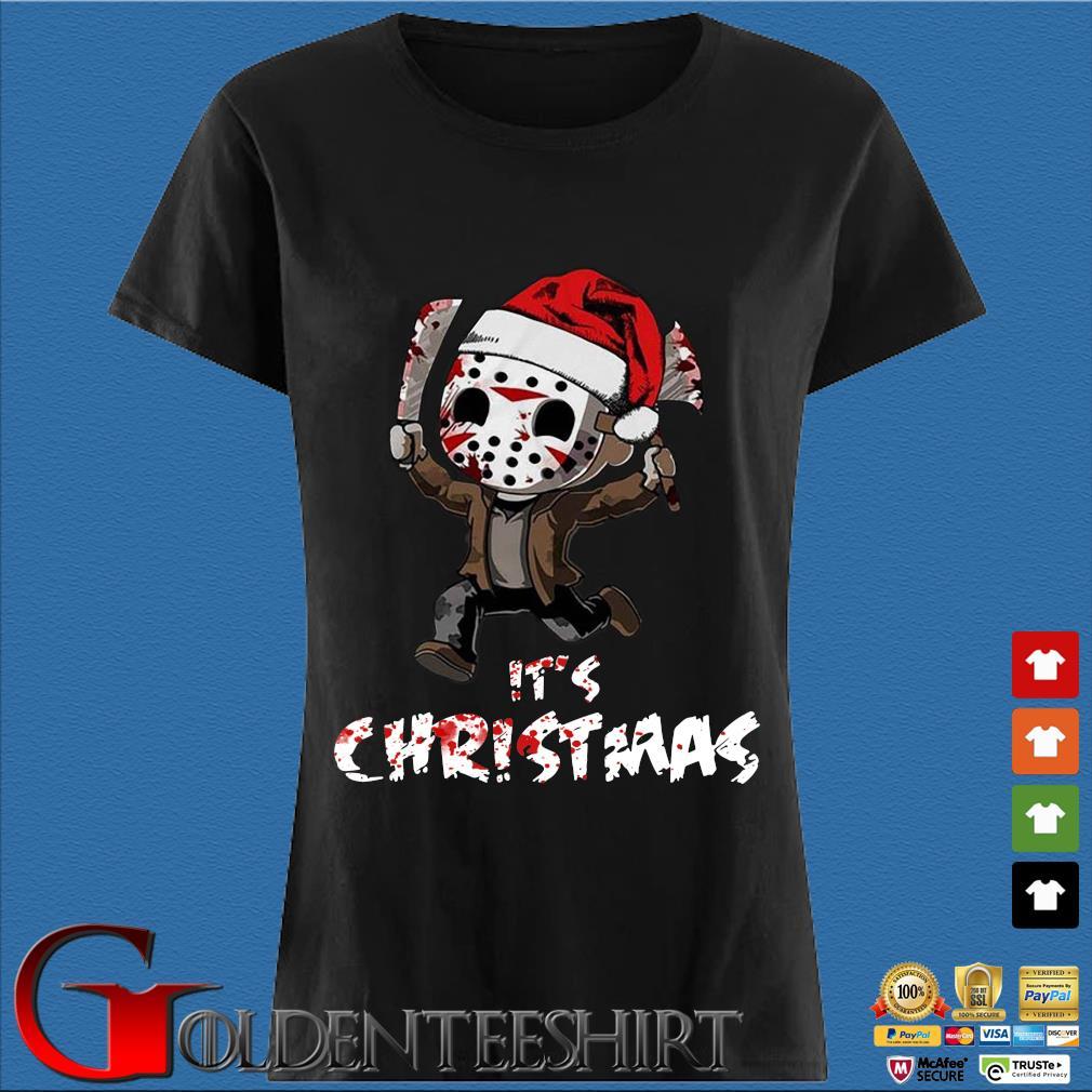 Baby Santa Jason Voorhees it's Christmas sweater Den Ladies