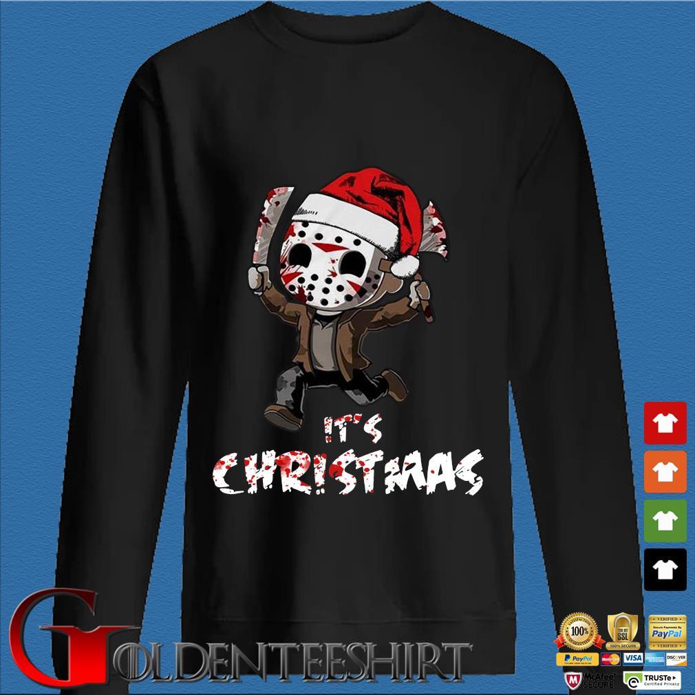 Baby Santa Jason Voorhees it's Christmas sweater