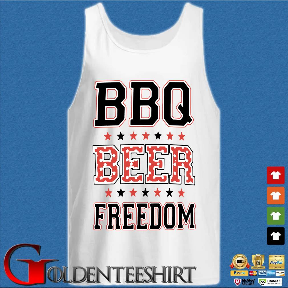 BBQ beer freedom s Tank top trắng