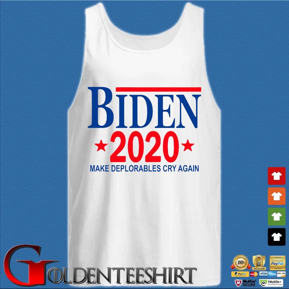 Biden 2020 make deplorables cry again s Tank top trắng
