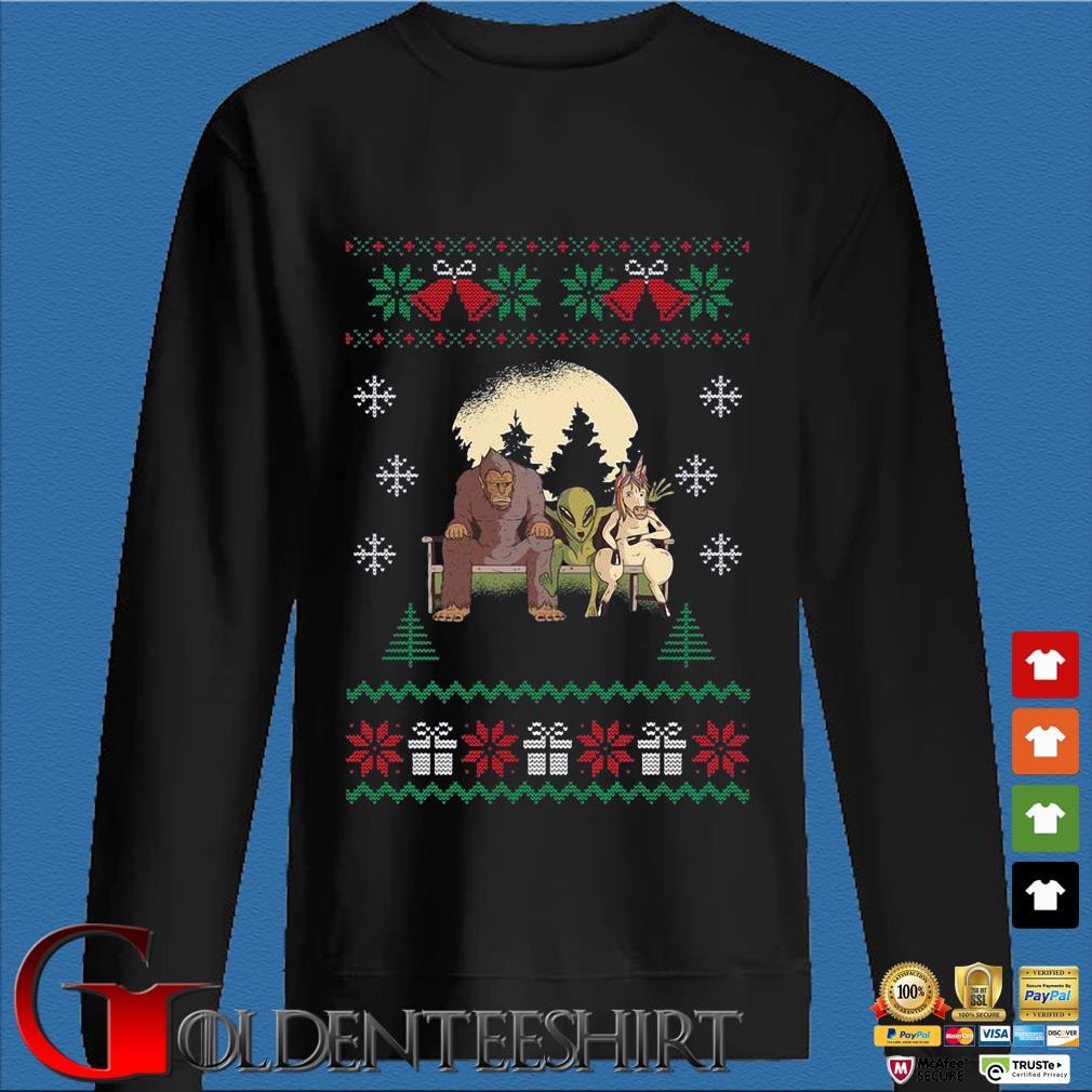 Bigfoot Unicorn Alien Ugly Christmas sweater