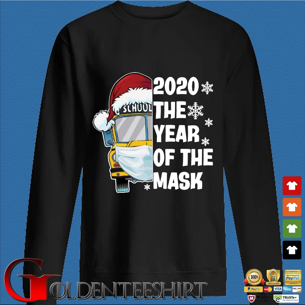 Bus school 2020 the year of the mask Christmas sweater