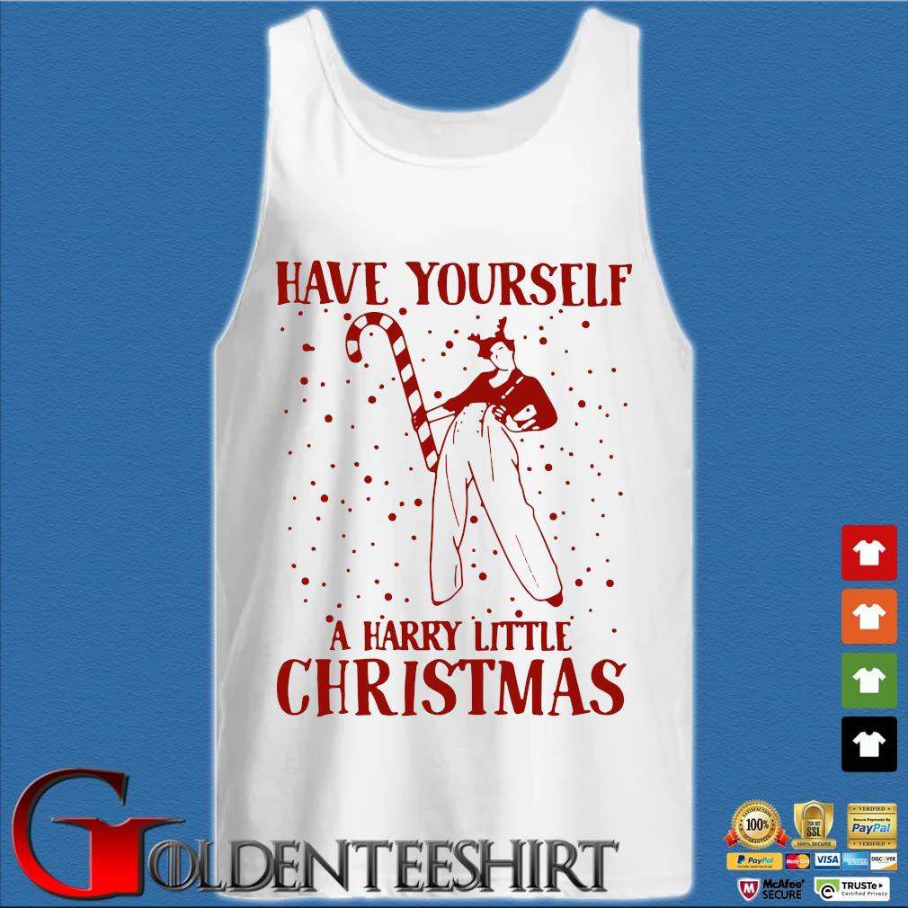 Have yourself a harry little Christmas sweater Tank top trắng