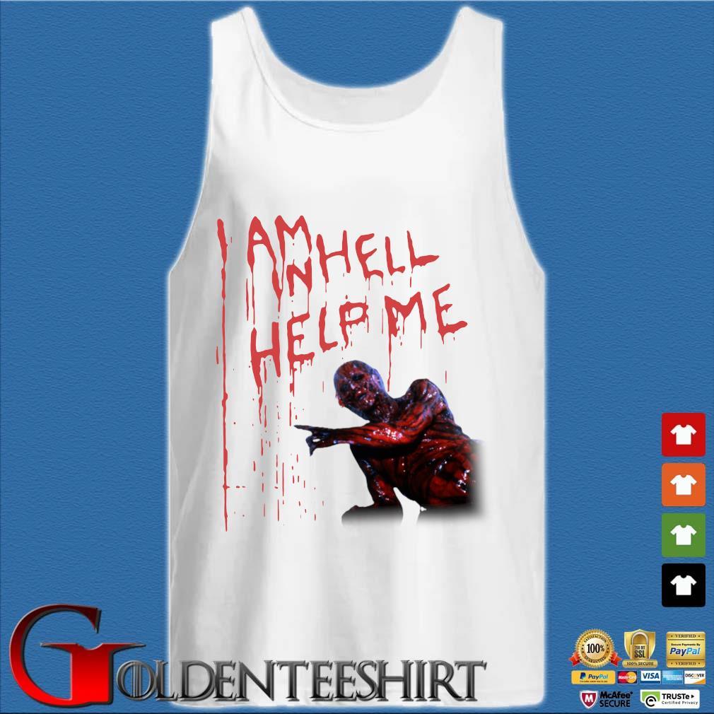 Hellraiser i am hell help me s Tank top trắng