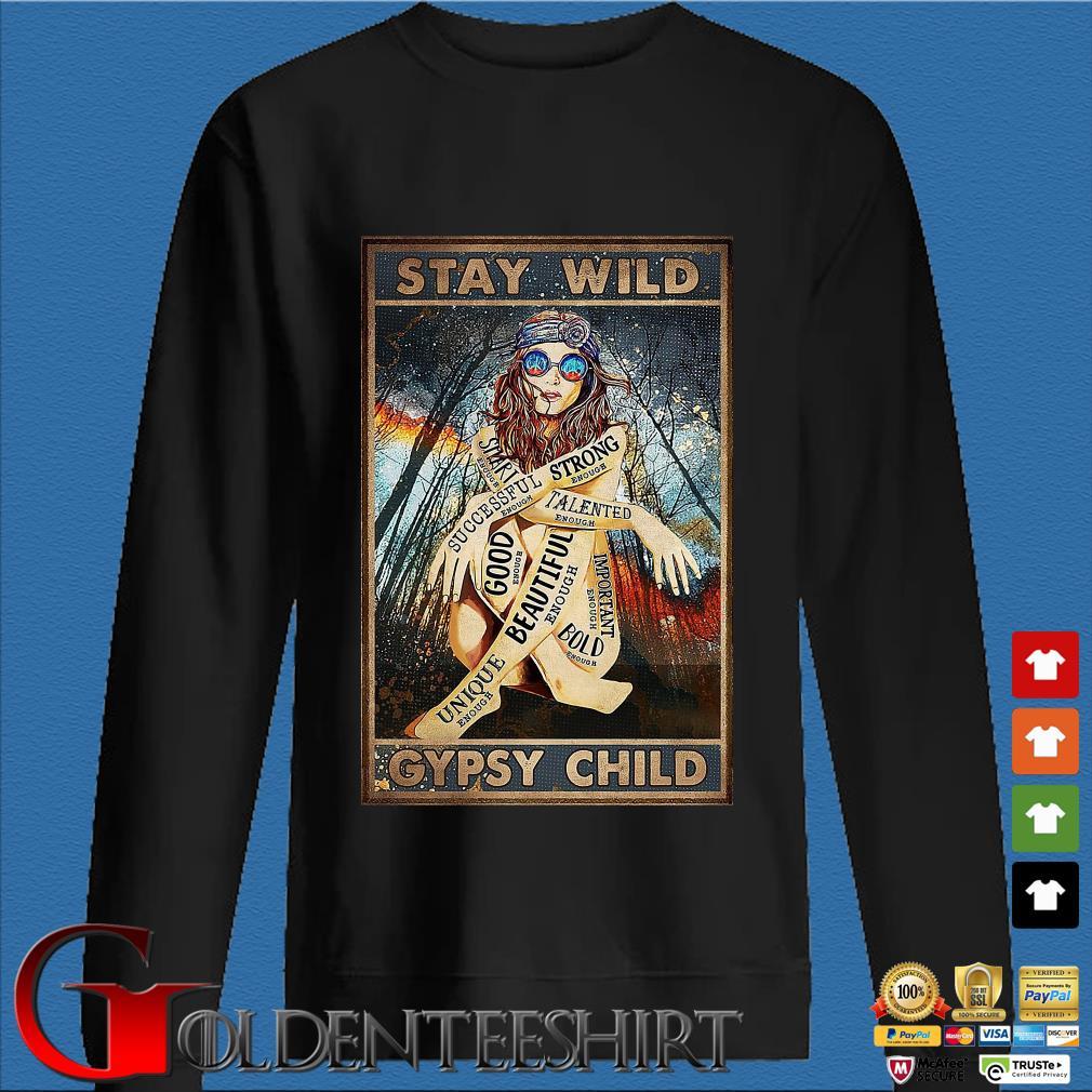 Hippie Girls stay wild gypsy child shirt