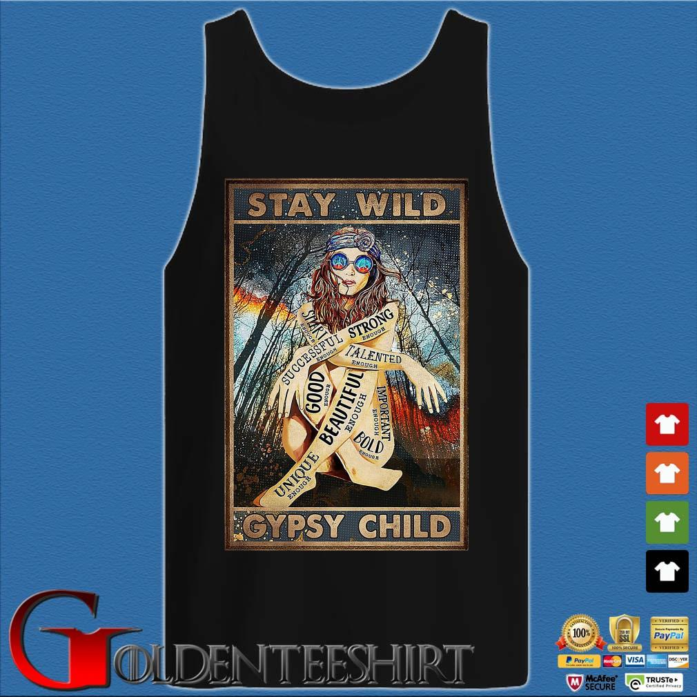 Hippie Girls stay wild gypsy child s Tank top den