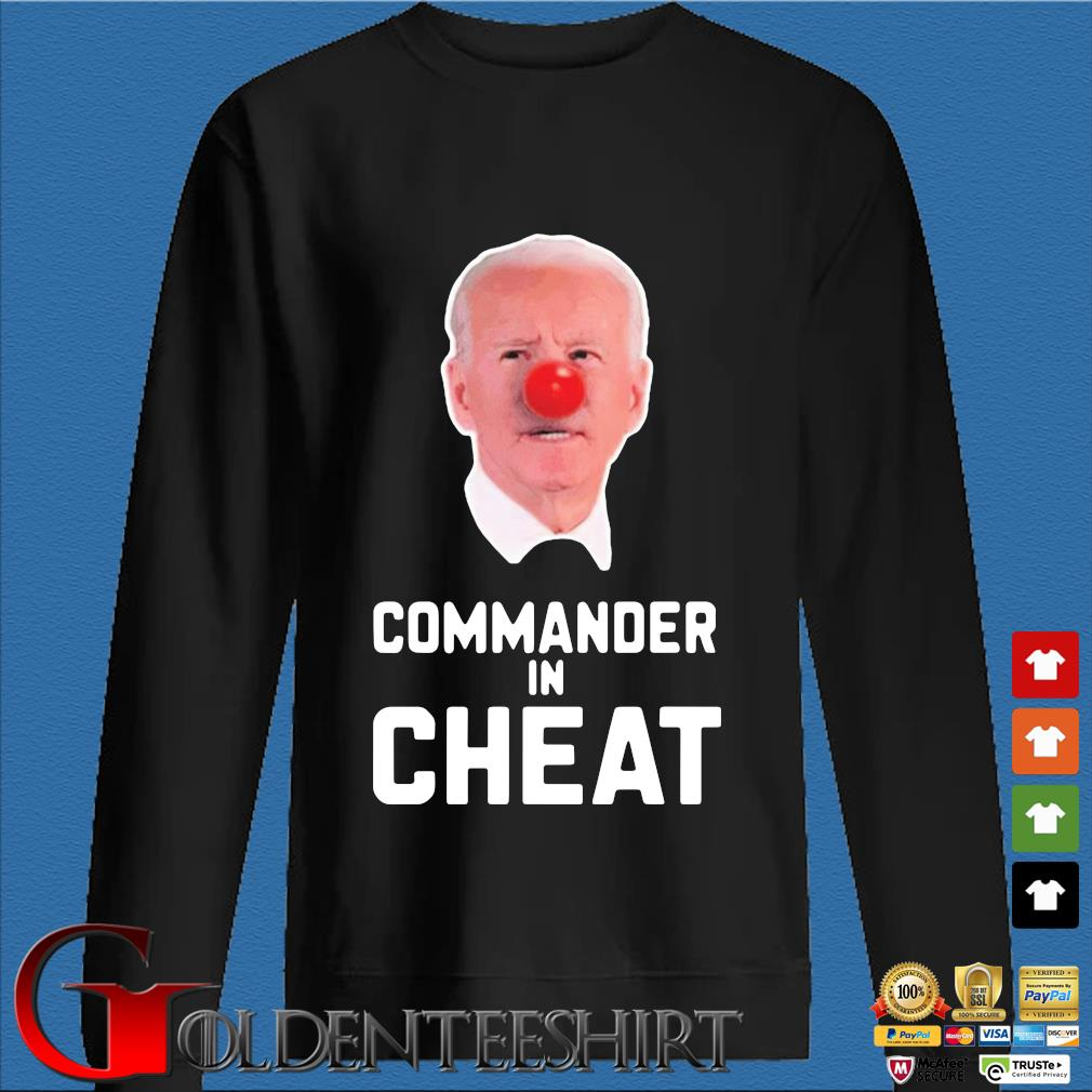 Joe Biden commander in cheat shirt