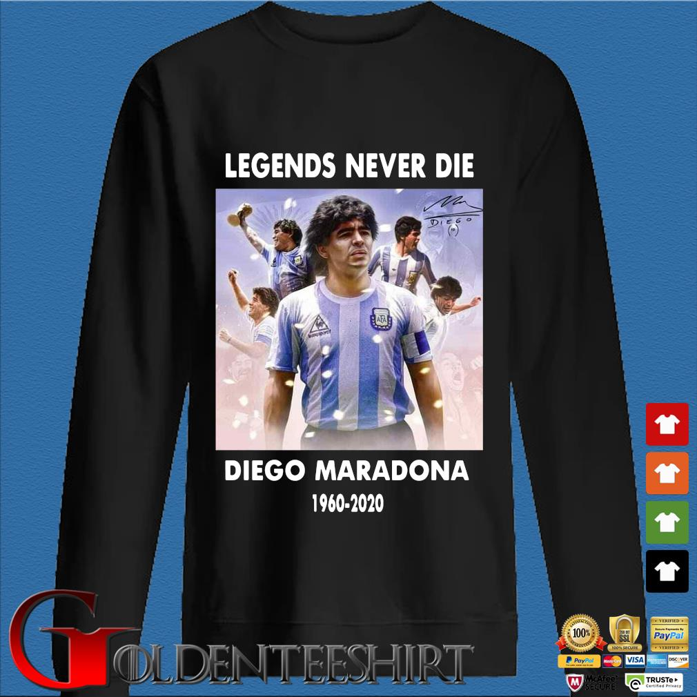 Legend never die Diego Maradona 1960-2020 signature shirt