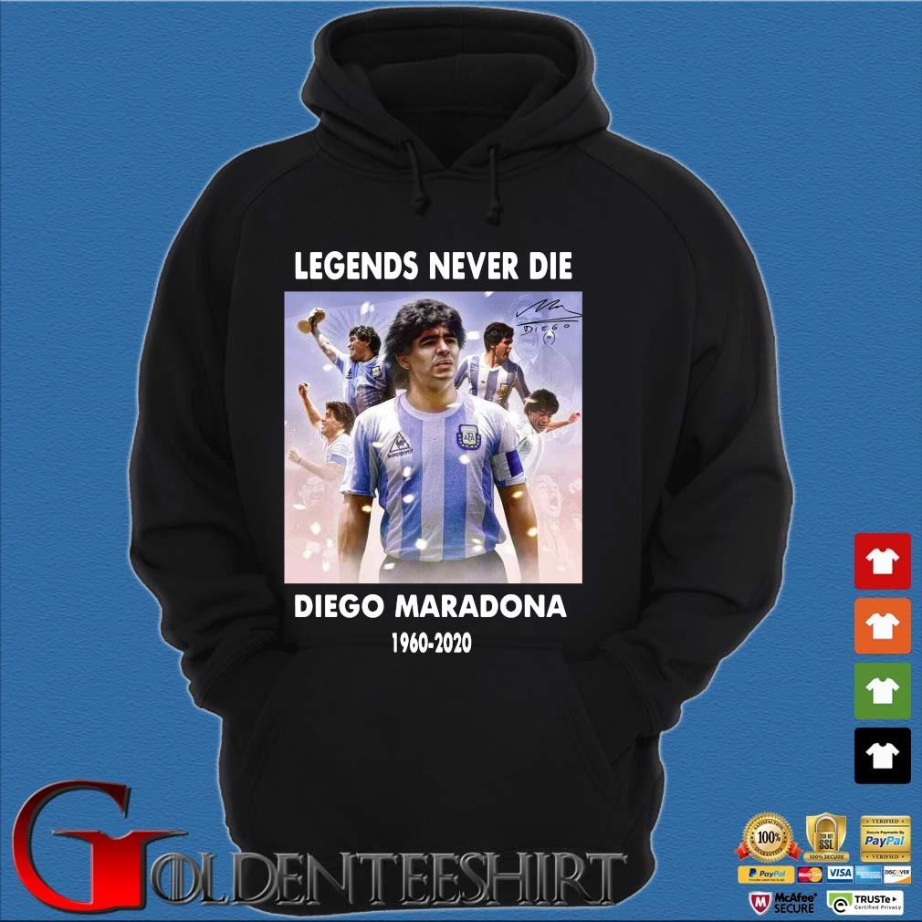 Legend never die Diego Maradona 1960-2020 signature s Hoodie đen