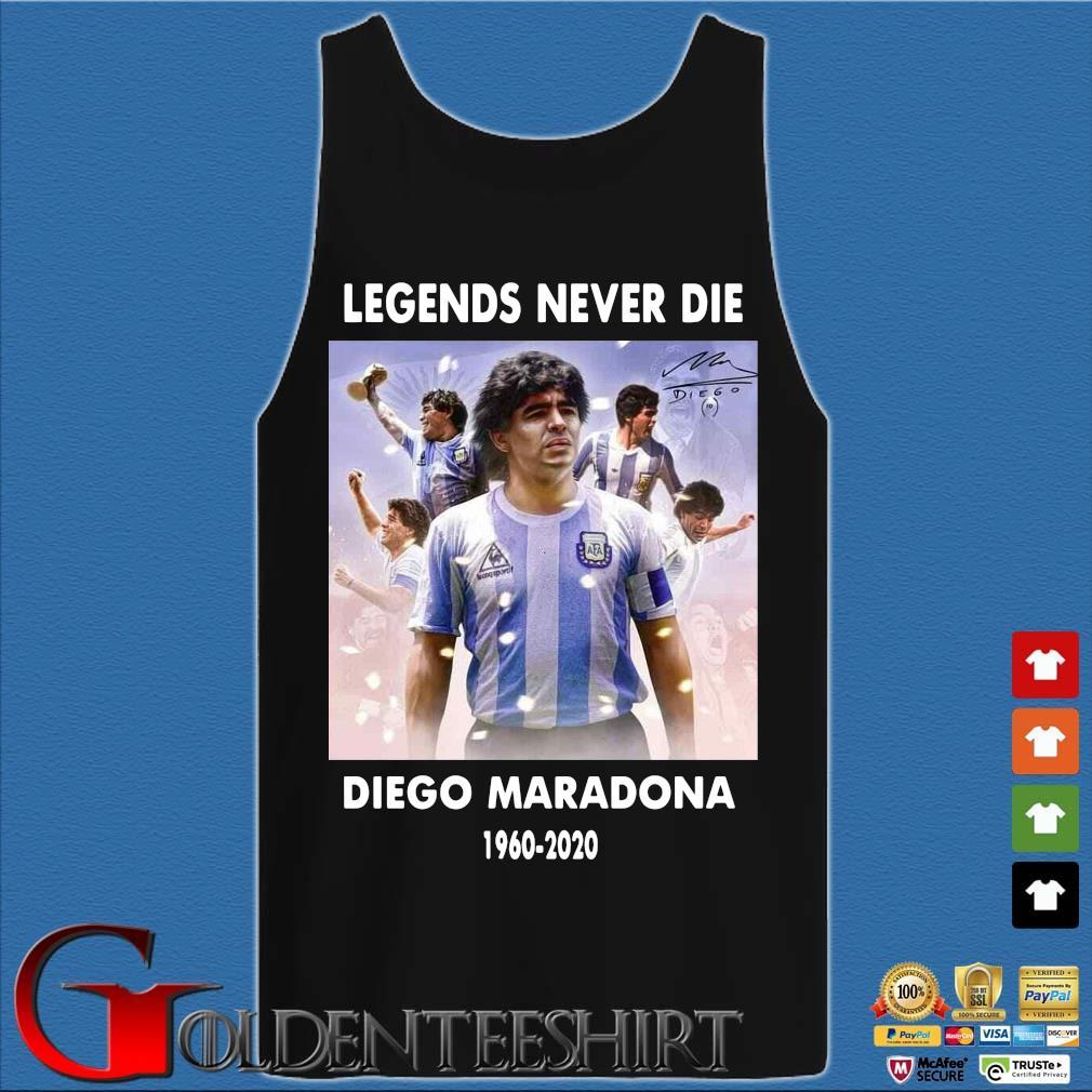 Legend never die Diego Maradona 1960-2020 signature s Tank top den
