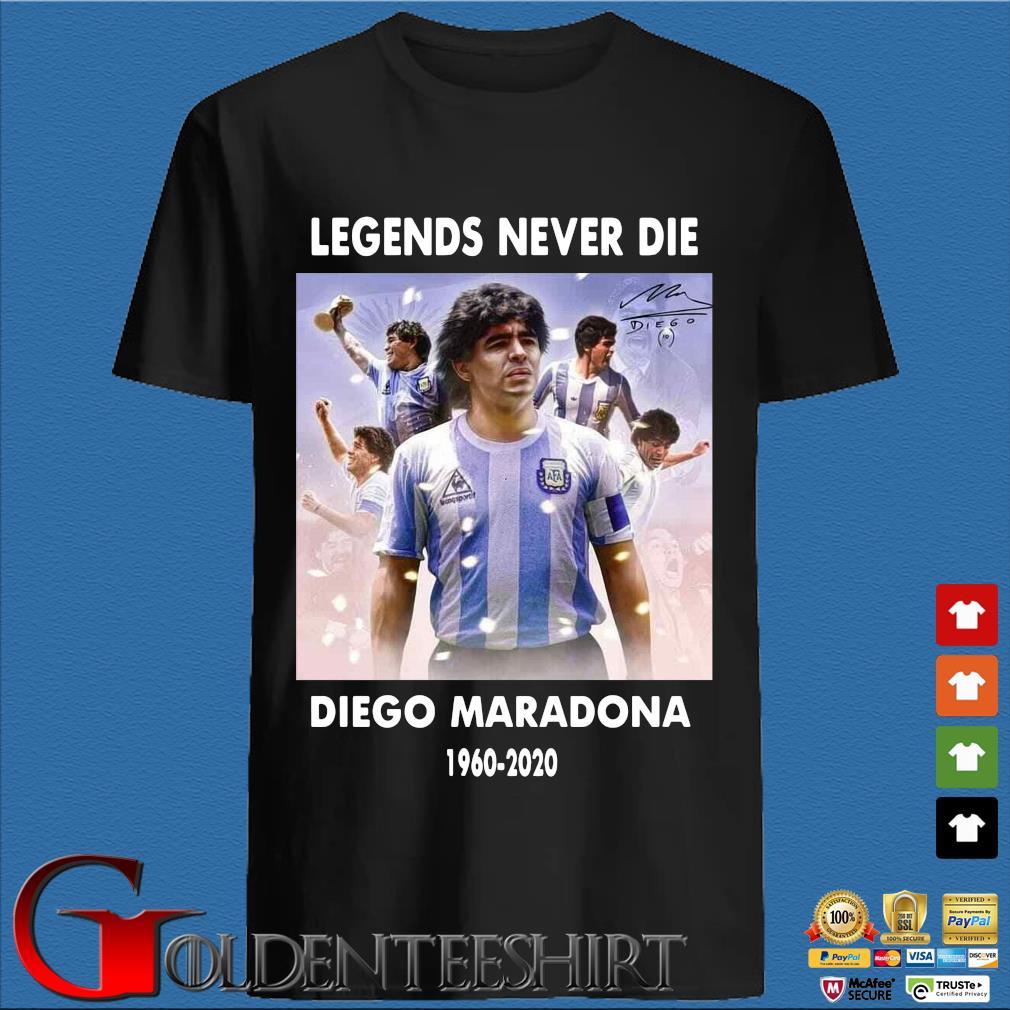 Legend never die Diego Maradona 1960-2020 signature s den Shirt