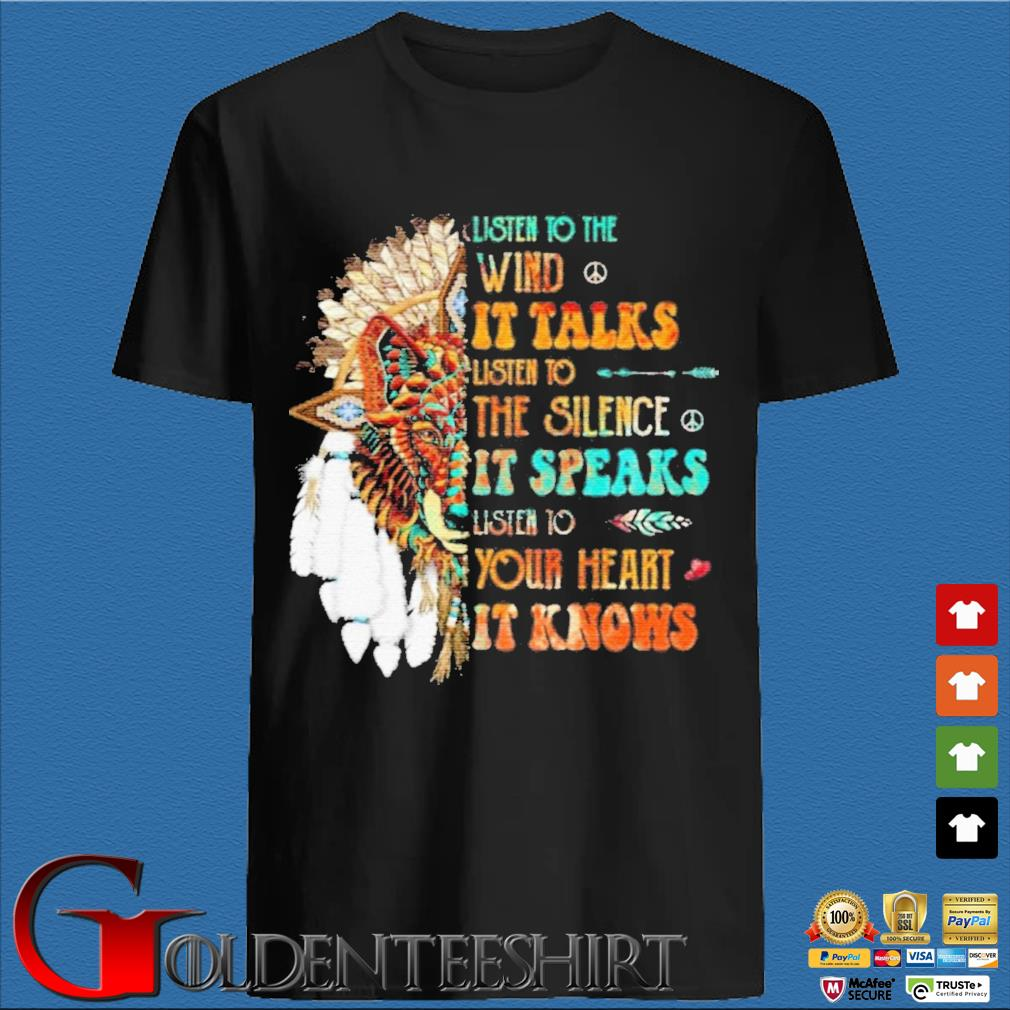 Listen To The Wind It Talks Listen To The Silence It Speaks Listen To Your Heart It Knows Shirt den Shirt