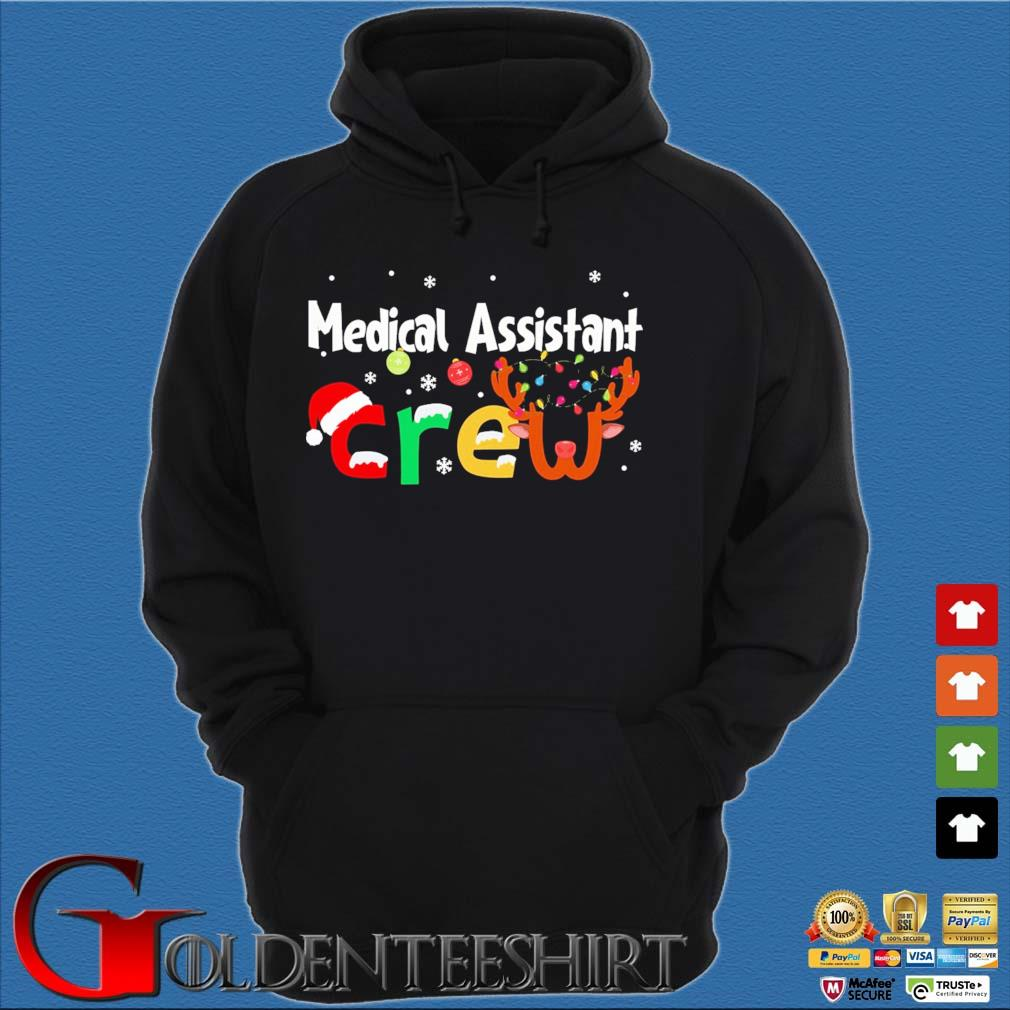 Medical Assistant Crew Christmas Sweater Hoodie đen