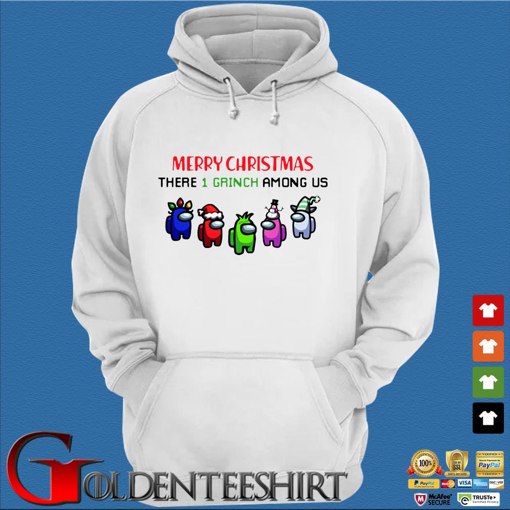 Merry Christmas There 1 Grinch Among Us Sweater Trang Hoodie
