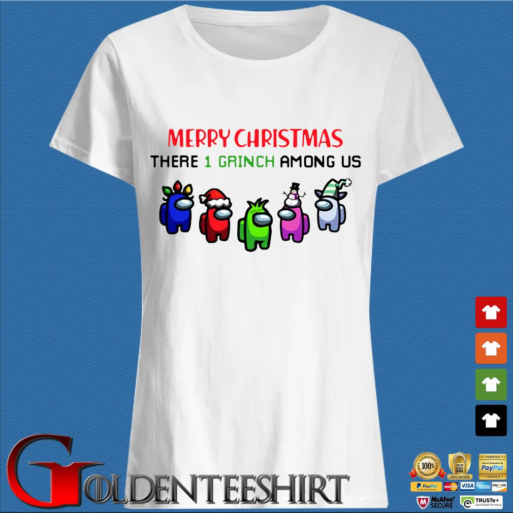 Merry Christmas There 1 Grinch Among Us Sweater Trang Ladies